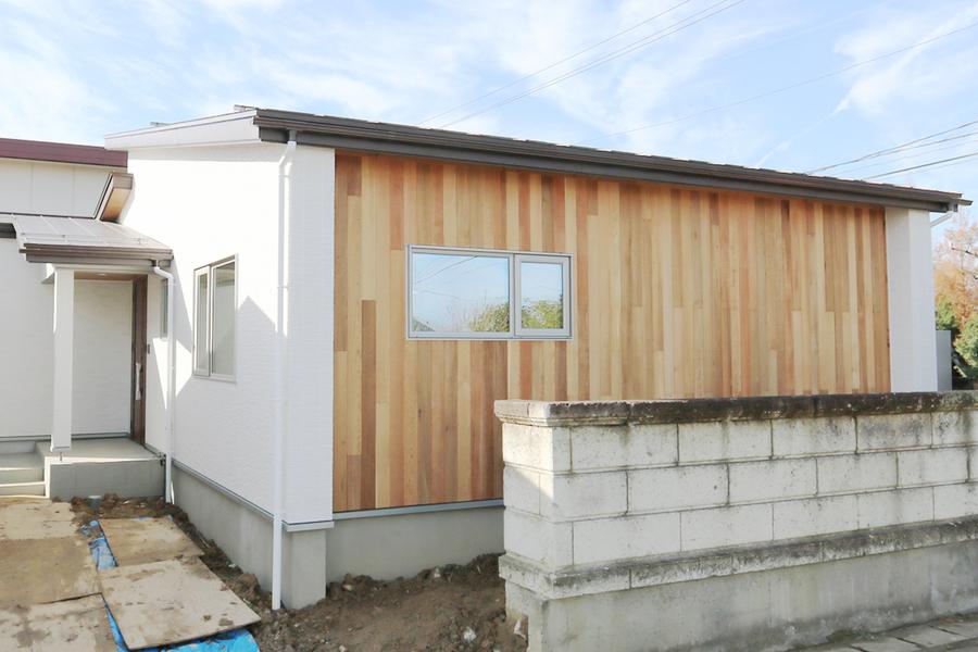 阿賀野市で新築の平屋の注文住宅の外観