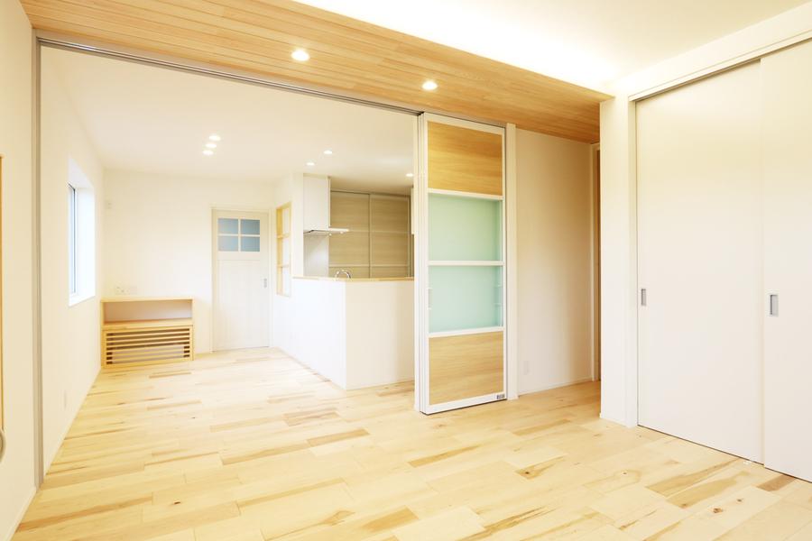 阿賀野市で新築の平屋の注文住宅の内観