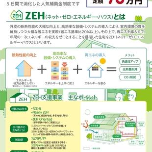 7月17日よりZEH支援事業の二次公募スタート!