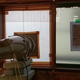 新潟市西区の現場で気密測定