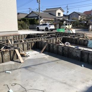 基礎工事完了と今週の予定。
