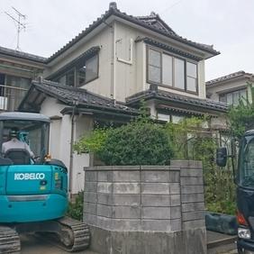 長期優良住宅リフォーム工事の解体現場