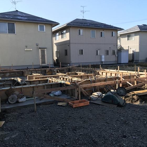 【注文住宅新築工事】基礎立ち上がりコンクリート打設