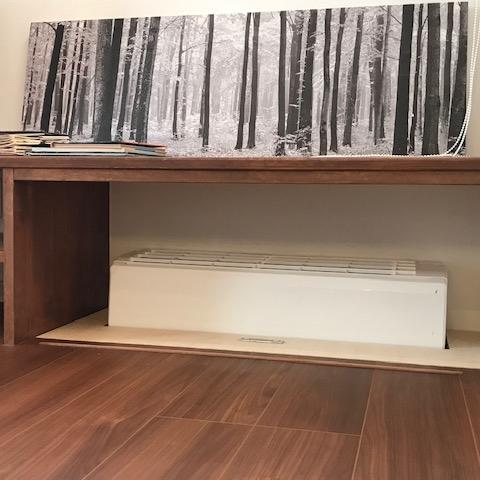 モデルハウス床下エアコン稼働状況