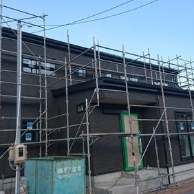 新潟市西区の二世帯住宅の現場状況です。