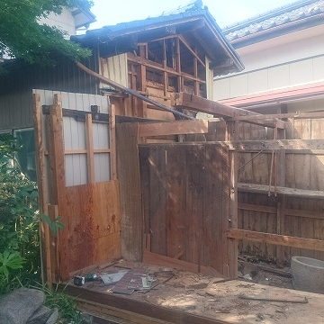 新潟市江南区の減築リフォーム着手。