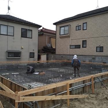 新潟市の新築現場です