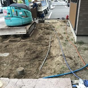 解体工事と地縄張り